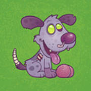 Zombie Puppy Art Print by John Schwegel