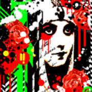 Zombie Queen Roses Art Print