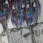 Zombie Trio Art Print