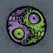 Zombie Yin-yang Art Print by John Schwegel