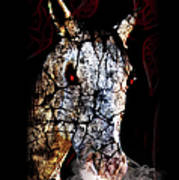 Zombified Horse Art Print