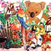 Zoo Animals Art Print