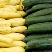 Zucchini On Display At Farmers Market 2 Art Print