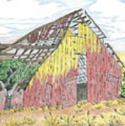 Zuniga Barn Art Print