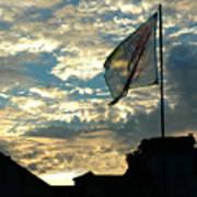 Zurich Griffin Flag At Sunset Art Print