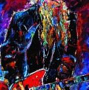 Zz Top Billie Gibbons Art Print