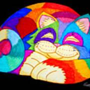 Zzzzzzzzzzzz Cat Art Print