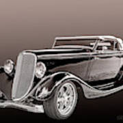 1934 Ford Roadster Art Print