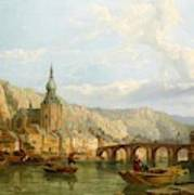 A View Of Dinant Art Print