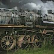 Abandoned Steam Locomotive  Art Print