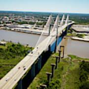 Aerial View Of Talmadge Bridge Art Print