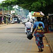 African Street Scene Art Print