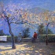 Angelo Morbelli 1853-1919, Spring In Colma - 1906 Art Print