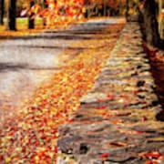 Autumn Avenue Art Print