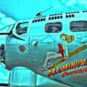 B-17 Aluminum Overcast Pin-up Art Print