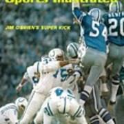 Baltimore Colts Jim Obrien, Super Bowl V Sports Illustrated Cover Art Print