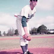 Baseball Player Sandy Koufax Art Print
