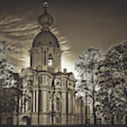 Beautiful Smolny Monastery Art Print