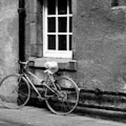 bicycle in Edinburgh close Art Print
