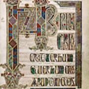 Book Of Lindisfarne Art Print