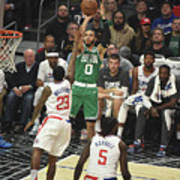 Boston Celtics V La Clippers Art Print