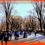 Central Park Mall Art Print
