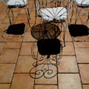 Chairs And Shadows Art Print