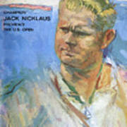 Champion Jack Nicklaus Previews The U.s. Open Sports Illustrated Cover Art Print