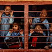 Children Of Nepal - Series Art Print