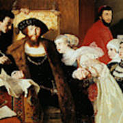 Christian II Signing The Death Warrant Of Torben Oxe  Art Print