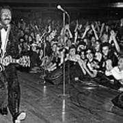Chuck Berry In Concert At The Palladium Art Print