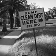 Clean Dirt Art Print