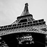 Close Up View Of The Eiffel Tower From Underneath  Art Print