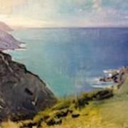 Cornish Headlands  Art Print