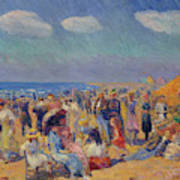 Crowd At The Seashore Art Print