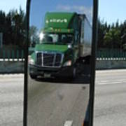 Green Freightliner Publix Art Print