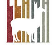 Cute Funny Llama Make Me Happy Retro Llamas Art Print