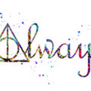 Deathly Hallows Always Art Print
