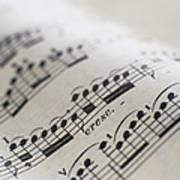 Detail Of Sheet Music Art Print