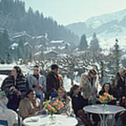Drinks At Gstaad Art Print