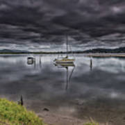Early Morning Clouds And Reflections On The Bay Art Print