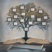Family Tree, Genealogy Art Print