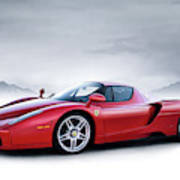 Ferrari Enzo Art Print