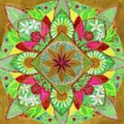 Flower Garden Mandala Art Print