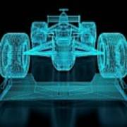 Formula One Mesh. Part Of A Series Art Print