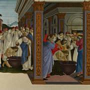 Four Scenes From The Early Life Of Saint Zenobius  Art Print