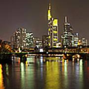 Germany, Frankfurt, View Of City At Art Print