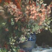 Gladioli In A Vase  Art Print