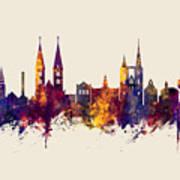 Halberstadt Germany Skyline Art Print