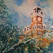 Ice On Old Main Art Print